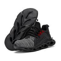Zapatos de punta de trabajo las zapatillas de deporte de acero ligero tapón de seguridad, botas de trabajo de seguridad transpirable Hombres Botas anti-sensacional de construcción para los hombres