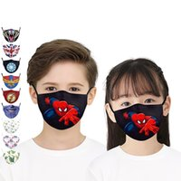 face masks 3D Cartoon hero sports outdoor riding mask Washab...