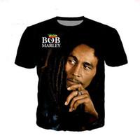 Aceitar Prezado Cliente Projeto Anime / Foto / Star / Cantor Padrão / DIY T-shirt Mulheres Homens Bob Marley 3d impressão por sublimação T Shirt MH011