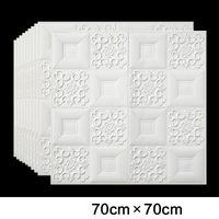 3D Telhado Teto Wallpaper PVC impermeável auto-adesiva de espuma Wallpaper Sala Quarto Telhado Teto Contato Papel Decor Decal