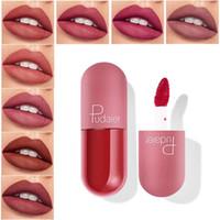 Rouge à lèvres mat Pudaier liquide imperméable Long Lasting Lip Gloss velours rouge sexy lèvres liquide Glaze Tint pigment de 18pcs de