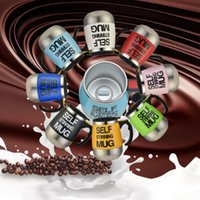 Logo personnalisé Self Agitation Tasse 16 oz à double paroi vide Eletric automatique intelligent Flasques Agitation tasse à café en acier inoxydable avec poignée Tumbler