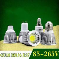 Super Bright GU 10 Lampor Ljus Dimbar Led Varm / Vit 85-265V 7W 10W 15W GU10 COB LED Lampa Light GU 10 LED Spotlight