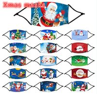 Fast shipping , 16 Styles kid child Santa Claus Christmas Masks Xmas Face Masks Anti Dust Mouth Cover Washable Reusable With Filter FY4239