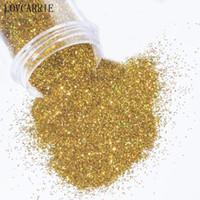 1 PCS Holographic Nail Powder Flakes Laser Gold Silber Glitter Pailletten Nail Supplies Paillette Mix Größe Scheibe Staub für Kunst