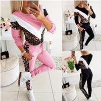 Tracksuit Women Long Sleeve Two Piece Set Outfits Color Matc...