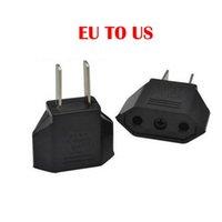 US / EU to EU AU AC 전원 플러그 변환기 어댑터 어댑터 유럽 블랙 플라스틱 여행 변환기 최대 2200W 두 핀 플러그 DHL