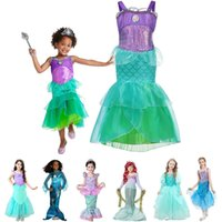 Mädchen Little Mermaid Kleid-Kind-Kleidung Fancy Sea Princess Partei-Kostüm-Tochter Halloween Horrior Nacht Outfits