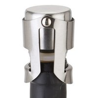 Stainless Steel Wine Stoppers Vacuum Sealed Wine Bottle Stop...