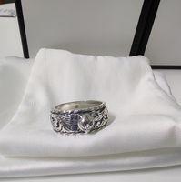 Последний дизайн Tiger Head 925 Стерлинговое серебро Кольцо Пара Личности Ретро Кольцо Лучшие продажи Кольцо Мода Ювелирные Изделия Поставка