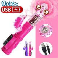 5-modo de rotación + 12 en modo Dolphin vibradores de doble estimulador del clítoris Vibrador de G Punto juguetes adultos del sexo para la mujer Y200409