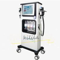 Salon-Ausrüstung Hydro Dermabrasion Diamant Hydro Sauerstoff CO2 Blase Schönheit Gesichtslifting Schönheit Maschine RF + BIO + Sauerstoff Spray