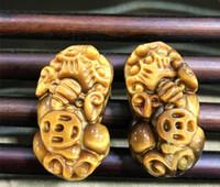 Manufacturer wholesale jade tiger eye stone wood alexandrite pendant pendant car hanging bracelet special accessories length 2.5cm