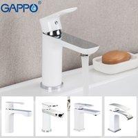Gappo grifo del lavabo del baño de latón grifo del fregadero cubierta montada Baño Grifería monomando fregadero cascada grifo Torneira Do Anheiro