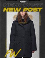 Top Parkas invierno Mujer de Down Canadá Chaqueta Ropa color de la capa Abrigo Mujer Chaqueta Parka Nueva Moda
