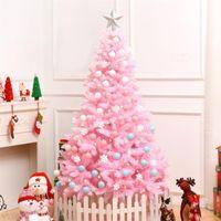 زينة عيد الميلاد 1.2 متر الكرز زهر شجرة الوردي الديكور ديلوكس تشفير هدايا مع أضواء led ملون الكرة ديكور