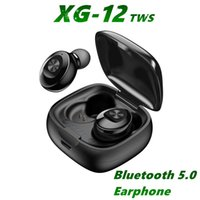 XG12 Bluetooth 5.0 Kulaklık Stereo Kablosuz Earbus HIFI Ses Spor Kulaklık Handsfree Oyun Kulaklık Mic ile iPhone 8 XS 11 MQ50