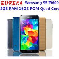 الأصلي مقفلة Samsung S5 i9600 G900F G900A G900H 5.1 بوصة 2 جيجابايت RAM 16GB ROM رباعية النواة 3G4G 16MP GPS تم تجديد الهاتف المحمول