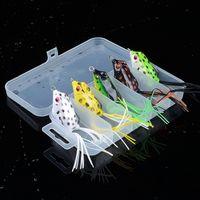 Kutu yılanbaş Bass Alabalık Yem Balıkçılık ile 5pcs / Lot 4.2cm / 5.8 g Hayat gibi Kurbağa Lure Yumuşak Yem Biyonik Balıkçılık Lure Topwater olta takımı