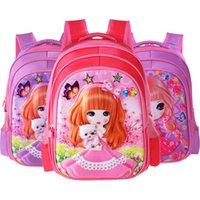 Cuero equipaje Tag2020 mayor de las muchachas de escolar escuela primaria para niños de dibujos animados Mochila 1 2 3 4 Grado morral lindo gancho estéreo monedero