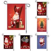 Banners de Natal do boneco de neve Elk pano de Santa Claus Hanging Bandeira Feliz Natal Decoração Para Casa Xmas Ornamentos Bandeiras 200pcs T1I2293