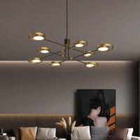 Villa oturma odası yatak odası yemek odası yeni tasarım lüks pirinç kolye avize aydınlatma üst seviye bakır avizeler ışıklar lambalar