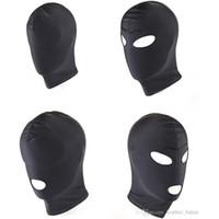 Spandex Hood маска с Рот и глаза Открытие Фетиш Bondage