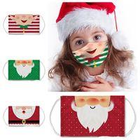 quente reutilizável Máscaras Natal Máscaras Impresso miúdos de Papai Noel Máscaras Anti Poeira Snowflake Boca capa lavável T2I51349