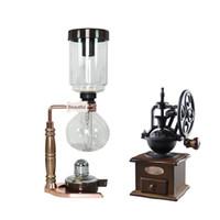 Vacuum Cafeteira Household ebulição Siphon Pot Set Vidro Ware Coffee Machine 3 Pessoa 5 Pessoas de