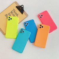 10 шт. Камера защита от флуоресценции Candy Color Collection Case для iPhone 11 Pro Max XS XR X 8 7 PLUS Case Cover Cover Covers Dropshipping