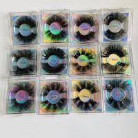 vison longos e grossos cílios postiços 25mm encaracolados cílios confuso falso vison macio cílios vivas olho maquiagem 12 modelos disponíveis DHL grátis