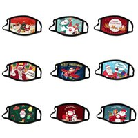 10 Styles Designer máscaras Cotton Natal para Cartoon Adulto Papai Noel Lavável Dustproof Mouth máscara protetora envio por DHL