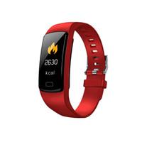 Y9 Smart Pulsera Activity Tracker Fitness Pulsera Monitor de ritmo cardíaco Monitor de la presión arterial Muñecas para teléfonos inteligentes SmartBand