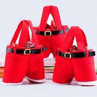 Санта Брюки Сумки Xmas брюк Gift Party Bag Прекрасные сумки лакомство для венчания Детский отдых Новый год Candy Apple Red Wine Party HH7-1887