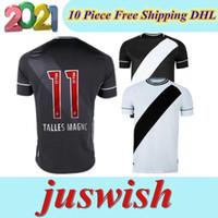 20 21 Kulübü Vasco Da Away Gama Futbol Formaları 2020 2021 Maxi Rios Paulinho Fabiano Muriq Özel Siyah Beyaz Futbol Gömlek Tayland