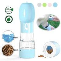 كلب زجاجة ماء مياه محمولة مغذية الشرب السلطانية القط الغذاء تغذية ل جرو في الهواء الطلق المشي إمدادات السفر