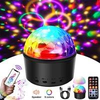 Luci della sfera della discoteca Bluetooth, USB 9 colori del partito luci della sfera della discoteca attivata suono Strobe Light con le luci DJ remota USB di controllo a LED