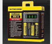 Autêntico 2019 Novo Nitecore I4 IntelliCharger Universal 1500mAh Max Saída E Cig carregadores para 18650 18350 26650 10440 14500 Bateria