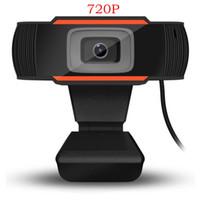 HD Webcam Web Camera 30fps 720P PC Camera Built-in A870 caixa de varejo Som de absorção de Microfone de gravação de vídeo para computador PC portátil