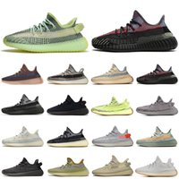 kanye west running shoes reflective Yecher Asriel Oreo CINDER triple white black womens mens trainers athletic sports sneakers tenis