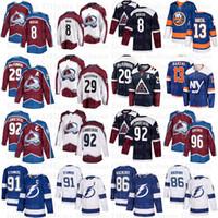 29 Nathan MacKinnon 8 Cale Makar 92 Gabriel Landeskog 96 Mikko Rantanen 91 Steven Stamkos 86 Nikita Kucherov 13 Mathew Barzal Hockey maglie