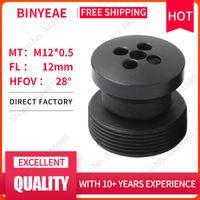 Lente Binyeae M12 Botão FL 12mm PIN Buraco para 1/3 CCD com F2.0 Mini CCTV HD 1Megapixel Segurança Câmeras