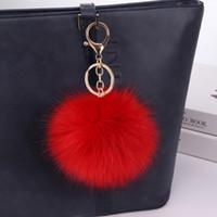 Imitation Fuchspelz Ball keychain Beutelanhänger der Mittelschule Student Mädchen Schulranzen weibliche Pelzkugel kleines Geschenk