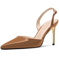 Sapato de bico fino salto alto de Lovirs Mulheres Stiletto Bombas Sólidos sapatos de cor vestido de festa Ladies Shoes Deslizamento em Heel Plus Size 4-15