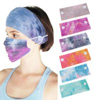 New Cotton Button Anti-Hair Band Mask Headscarf Headband Soft Yoga Sports Elastic Headband barrette girls headbands