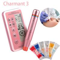 ماكياج ماركات عالمية- Dermografo الرقمية CHARMANT الدائم آلة عدة Microblading القلم الحاجب الشفاه التطريز الوشم مع خرطوشة إبرة