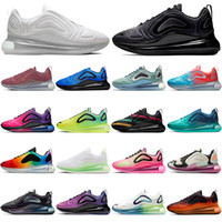 Sapatos Nike Air MAX 720 airmax Bubble Pack 2020 New STOCK X Running Shoes Mens Womens HIGH QUALITY Fashion Trainers White Pink Platinum Total Eclipse BE TRUE Designer Sneakers