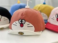 赤ちゃん帽の春と秋のアヒルの舌帽の漫画竹のトンボ野球キャップドラーモーンの柔らかい帽子帽子子供卸売