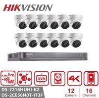 هيكفيجن 5MP الصوت DVR كيت نظام H.265 CCTV الأمن DVR مراقبة في الهواء الطلق مقاوم للماء إنذار تسجيل الفيديو DS-2CE56H0T-IT3F
