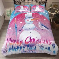 Roupa de cama de Ano Novo Estilo americano BEST.WENS Natal Bedding Set AB Side bedset King Size Luxo Duvet Cover Set cama feliz